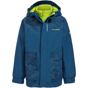 VAUDE Campfire IV 3in1 Jacket Kinder deep water